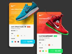 Daily UI #15 - Nike Cards