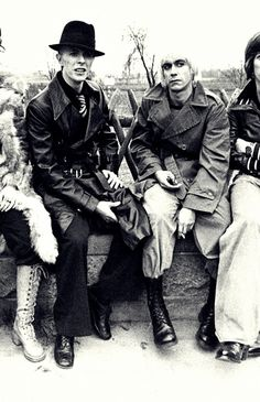 Travelling through Europe with Iggy Pop & David Bowie, 1976.