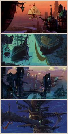 visual development for Disney's Treasure Planet