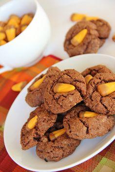Fall Cookies..Chocolate Caramel Candy Corn Cookies