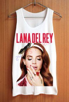 Lana Del Rey Shirt Red Shirts Top Tank Top Tee Tunic Singlet Women - Size S M L