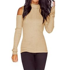 8f87b348bf8 Vovotrade Women Long Sleeve Pullover Sweater Slim Jumper Blouse Tops (S