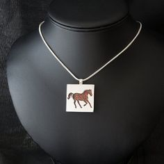 Items similar to Horse featuring Poppy Jasper - Hand-cut Reversible Sterling Silver Pendant on Etsy Silver Jewelry, Unique Jewelry, Monkeys, Jasper, Poppy, Horse, Trending Outfits, Handmade Gifts, Gemstones