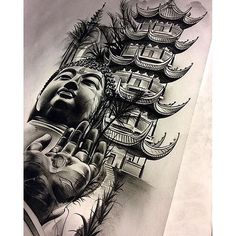 Amazing artist David Reveles @tattoospooky_d Buddha artwork! @art_spotlight @art_motive @sullenclothing ...