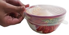 Silicone Stretch Lids, Set of 6 - Clear, Super Durable - FDA Approved - 1 Year Warranty - Cover Bowls, Dishes, Containers, Keep Food Fresh - Freezer, Microwave, Dishwasher Safe - BPA Free - Multi Size >>> Want additional info? Click on the image.