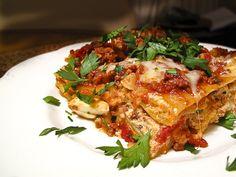 Last year we had lasagna as the main dish... my dad makes the best vegetarian lasagna I've ever had.