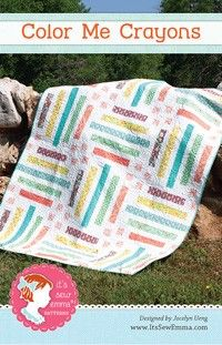 Color Me Crayons Quilt Pattern - It's Sew Emma