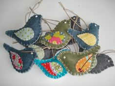 Bird ornament- great for scrap fabric