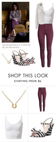 """""""Aria Montgomery - pll / pretty little liars"""" by shadyannon ❤ liked on Polyvore featuring ZoÃ« Chicco, H&M, Kate Spade and AllSaints"""