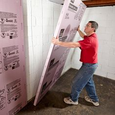 Framing Basement Walls A poor framing job can bring a whole mess of problems, so we asked a professional framing carpenter how to best build basement walls. These were their expert tips for framing basement walls. Insulating Basement Walls, Framing Basement Walls, Basement Insulation, Old Basement, Basement Remodel Diy, Basement Makeover, Basement Plans, Basement Bedrooms, Basement Flooring