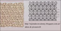 Puntos Para Tejer A Crochet Con Su Diagramaganchillo Y Su Esquema