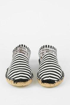 Costa striped espadrilles.