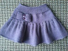 How To Knit Easy Child Skirt With Flywheel / Ruffled Bow Trim. - Nice ideas - Her Crochet Baby Knitting Patterns, Baby Hats Knitting, Knitting For Kids, Easy Knitting, Knitting Designs, Baby Patterns, Dress Patterns Uk, Simple Elegant Dresses, Crochet Baby