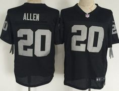 Men's Oakland Raiders #20 Nate Allen Nike Black Elite Jersey