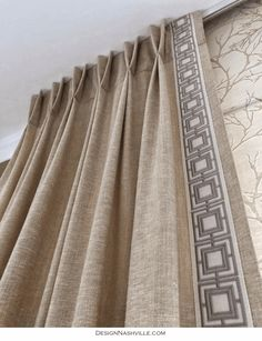 Decorative Borders for Pleated Draperies