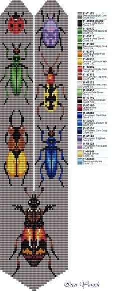 Bead Crochet Patterns, Loom Bracelets, Loom Beading, Bead Crafts, Wall Art, Beaded Earrings, Necklaces, Animals, Peyote Stitch Patterns