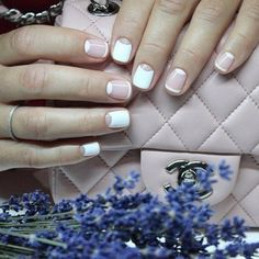 Accurate nails, Celebrity nails, Everyday nails, Exquisite nails, French manicure ideas, Half-moon nails ideas, Original nails, Plain nails