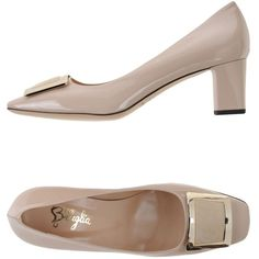 F.lli Bruglia Court ($220) ❤ liked on Polyvore featuring shoes, pumps, light pink, leather pumps, leather shoes, light pink shoes, animal pump and leather sole shoes
