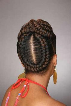 Large braided cornrows for African American women