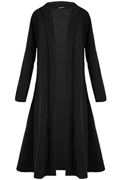 UK Women Cardigans - Womens Ladies Floaty Casual Waterfall Long Sleeves Open Front Maxi Long Cardigan. It is an Amazon affiliate link.