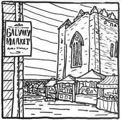 Galway Ireland, Irish Art, Black And White Illustration, Diagram, Illustrations, Drawings, Instagram, Illustration, Sketches