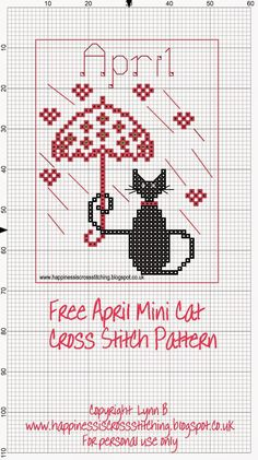 Geluk is Cross Stitching: Mini Cat Cross Stitch Freebies