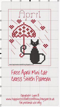 http://happinessiscrossstitching.blogspot.co.uk/p/mini-cat-cross-stitch-freebies.html