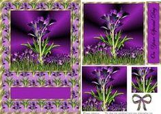 Purple Crocus Pyramid Card Front