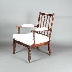 A 19th century bobbin chair