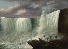 Louisa Davis Minot (American, 1788–1858) Niagara Falls, 1818. Oil on canvas. New-York Historical Society, New York City.  Louisa Davis Minot was one of the few women associated with what came to be known as the Hudson River School of artists in upstate New York.