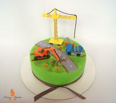 Child cake, boy cake, vehicles cake, cake ideas