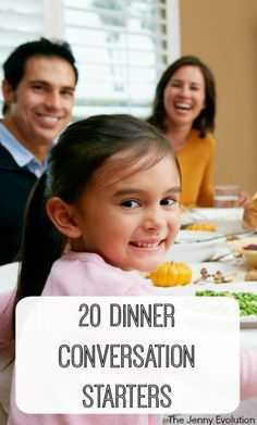20 Perfect Dinner Conversation Starters for Your Family and Kids | The Jenny Evolution