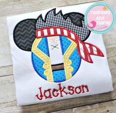 Jake Mouse Ears Applique Shirt  Book a Disney trip with Lindsay at Cupcake Castles travel and you can get this shirt for FREE along with her 100% free services.  www.cupcakecastlestravel.com/lindsay.htm OR www.facebook.com/CCTCLindsay