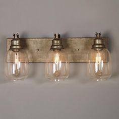 BATHROOM - comes in 2 lights -- Industrial Steel Bath Light - 3 Light