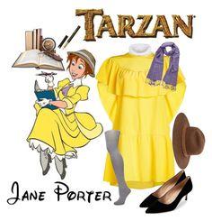 "What someone dressing as Jane Porter from ""Tarzan"" might wear! Tarzan And Jane, Jane Porter, Disneybound, Manolo Blahnik, Stella Mccartney, Valentino, Shoe Bag, My Style, Polyvore"