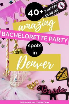 Weddings can be stressful, but planning your DENVER BACHELORETTE PARTY doesn't have to be! All you need is your girls, free-flowing cocktails, and this listing of all the BEST spots in Denver for an amazing Bachelorette party! Denver Bachelorette | Denver Bachelorette Party | Denver Bachelorette Party Ideas | Bachelorette Party in Denver | Bachelorette Party in Denver Colorado | Bachelorette Denver | Bachelorette Denver CO | Bachelorette Denver Colorado | Denver Colorado Bachelorette Road Trip To Colorado, Denver Colorado, Colorado Tourism, Munich Oktoberfest, Denver Travel, Upcoming Festivals, An American In Paris, Denver City, Bachelorette Weekend
