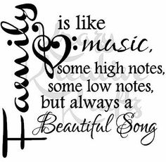 Ideas For Tattoo Music Notes Vinyl Decals Family Strength Quotes, Quotes About Strength, Aunty Acid, Sign Quotes, Me Quotes, Quotes Arabic, Beautiful Songs, Family Love, Music Notes
