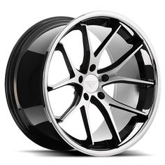 Ferrada - Machine Black w/ Chrome Lip - Wheel Warehouse Volkswagen Phaeton, Volkswagen Touran, Custom Wheels And Tires, Car Wheels, Chrome Wheels, Rims For Cars, Rims And Tires, Honda Civic Rims, Bmw E46 Sedan