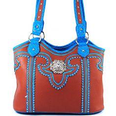+Western++Purse+Shoulder+Bag+HandBag+Brown  SKU+CHF-118+BR Color+Brown Dimension+13.5*11*5