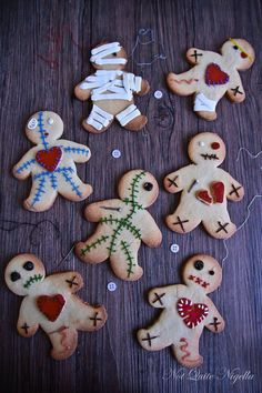 Voodoo doll cookies.