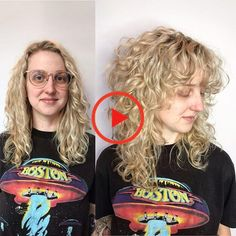 When your client asks for curly bangs and big hair. When your client asks for curly bangs and big hair. Curly Shag Haircut, Long Curly Haircuts, Curly Hair With Bangs, Curly Hair Cuts, Medium Hair Cuts, Long Hair Cuts, Short Curly Hair, Big Hair, Medium Hair Styles