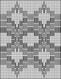 bargello stitches | Stitch Chart for Persian Bargello Medallions Decorative Stitch Pattern