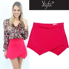 Short saia assimétrica www.yafa.com.br