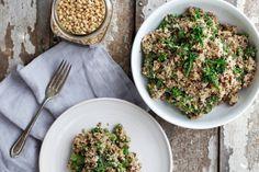 Nutrition Stripped | Cheezy Broccoli Quinoa Pilaf | http://www.nutritionstripped.com