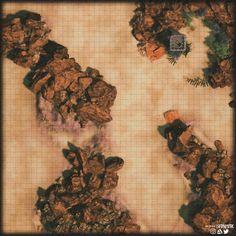 A 45 x 45 Desert/Avernus Battlemap big enough to run some Infernal Warmachine combat on. Dark Sun, Desert Map, Dnd World Map, Pathfinder Maps, Cartographers Guild, Scale Map, Rpg Map, Dungeon Maps, Dungeons And Dragons Homebrew