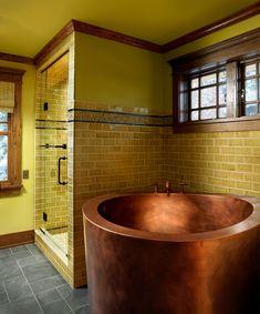 "Copper Japanese Soaking Bath 42"" round x 35"""
