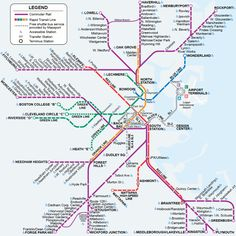 Boston public transit - Commuter Rail Map