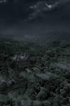Malfoy Manor from a distance Slytherin House, Slytherin Pride, Hogwarts Houses, Ravenclaw, Draco Malfoy Aesthetic, Slytherin Aesthetic, Dark Green Aesthetic, Aesthetic Pictures, Light In The Dark