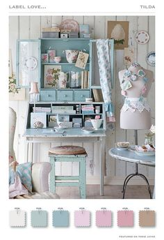 Gorgeous! Unfortunately my sewing area would need to be a little less organized/coordinated and a little more functional