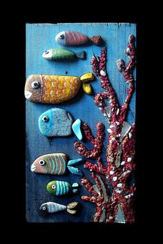 Stone Painting by Michela Bufalini- Wow!  Check out her sight for some really creative art work.